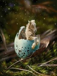 hatching Pegasus by Animal75Artist