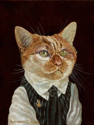 Mr. orange on catching mice by Animal75Artist