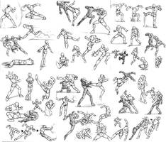 Lost art- Action poses by Dokuro