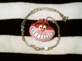 Disney Cheshire Cat Necklace by numb-existence