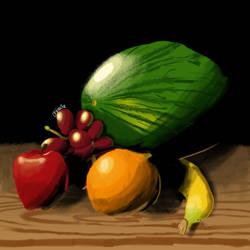 Fruit still life by DFdirector