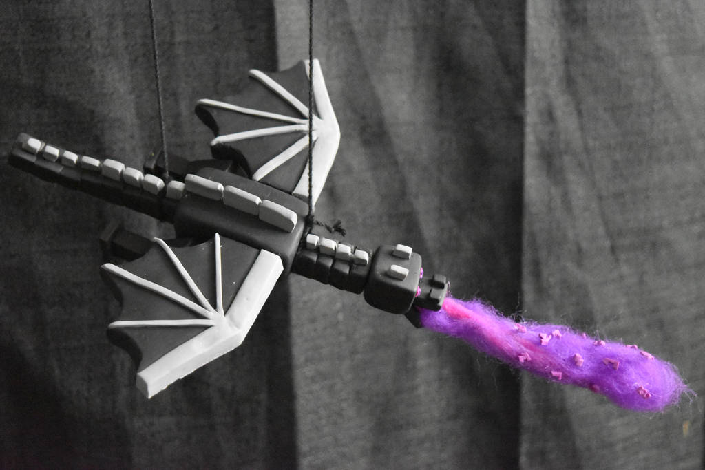 Ender Dragon - Minecraft - Clay Figure (Tutorial) by kerobyx