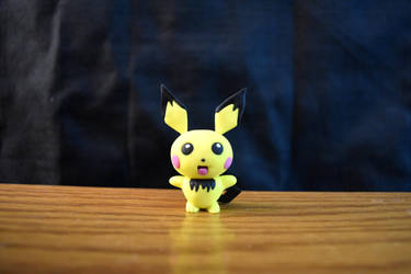 Pokemon #172 - Pichu - Clay Figure (Tutorial) by kerobyx