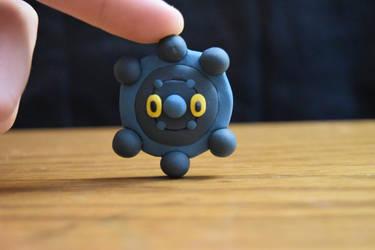 Pokemon #436 - Bronzor - Clay Figure by kerobyx
