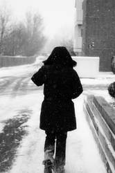 to walk the snowy path by CrustyMuffin
