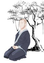 Zen Monk by woomoocoo