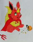 Trick or Treating Flareon by Mlgpirate01