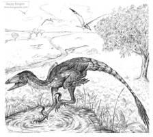 Deinonychus antirrhopus by Andalgalornis