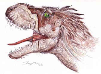 Tarbosaurus by Andalgalornis