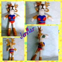 OOAK Deer Wonder Woman by waterseasun3