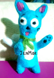 Felted Happy from Fairy Tail by waterseasun3