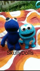 Felted Cookie Monster by waterseasun3