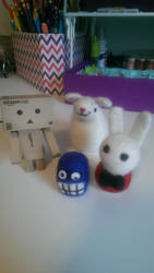 Felted some critters for fun by waterseasun3
