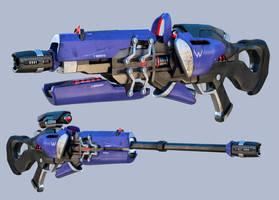 Widowmaker Sniper from Overwatch - Fanart by Tony3d