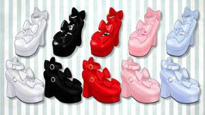 ribbon Lolita shoes-Natsuka dl by MikuPirate