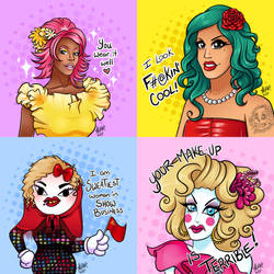 Dragrace Portraits by zombielily