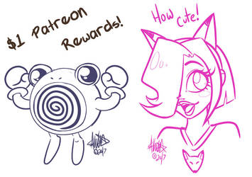 $1 Patreon Rewards by zombielily