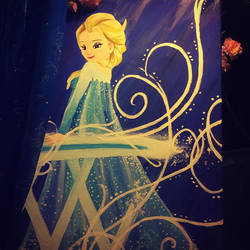 My Elsa Painting by serachi1