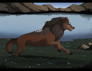 Sprinting to the finish [Shyan] by runemire