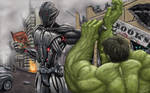Ultron vs Hulk by WinterMute-MtH