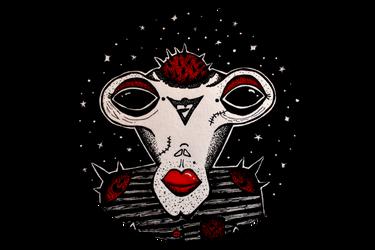 Alien portrait by lufrewoplla