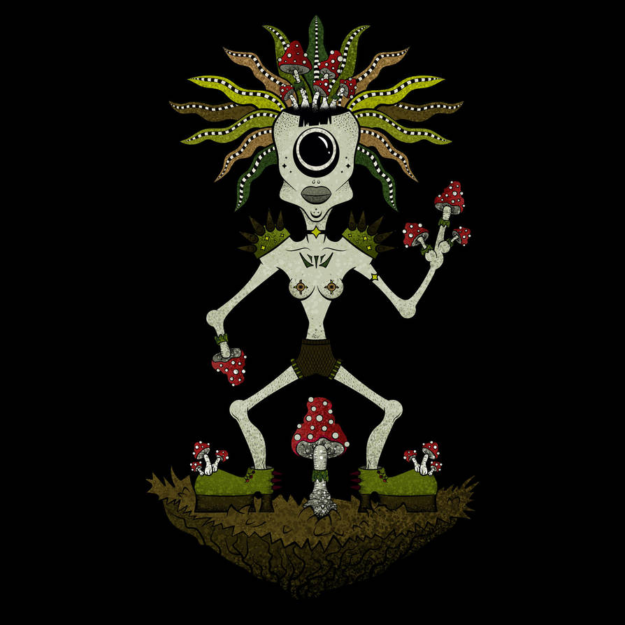Mushroom Queen by lufrewoplla