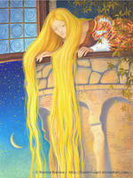 Rapunzel illustration 1 by FunderVogel