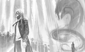 Kalil VS dark man by LordMishkin