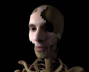 Digital Portrait Custom: Murray! (Skeleton Ver.) by VJRavenlight