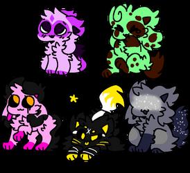 Adopts! (2/5 OPEN) (15 Each!) by Crystal-Kawaii