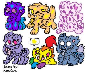 Cheap Adopts! (3/6 OPEN! 10 Each!) by Crystal-Kawaii