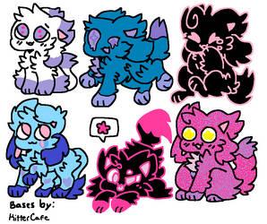 Adopts! (5/6 OPEN! 15 Each!) by Crystal-Kawaii