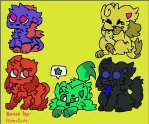Adopts! (5/5 OPEN! 15 Each!) by Crystal-Kawaii