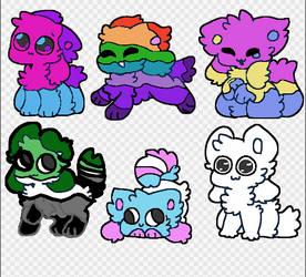 Adoptable LGBTQ+ Kittydogs 30 points each by Crystal-Kawaii