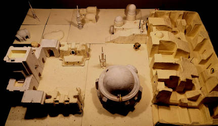 Model of a wretched hive of scum and villany by MerianDenham