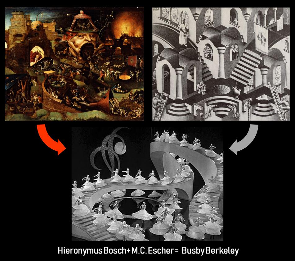 Bosch + Escher = Busby Bekerley by MerianDenham
