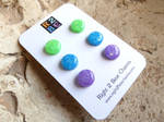 Clay and Resin Studs: Mermaid Opal by right2bearcharms