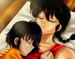 Ranma and Akane1 by HitokiriSakura2012