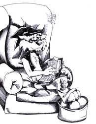 Izaak::leyendo by LeoZeke