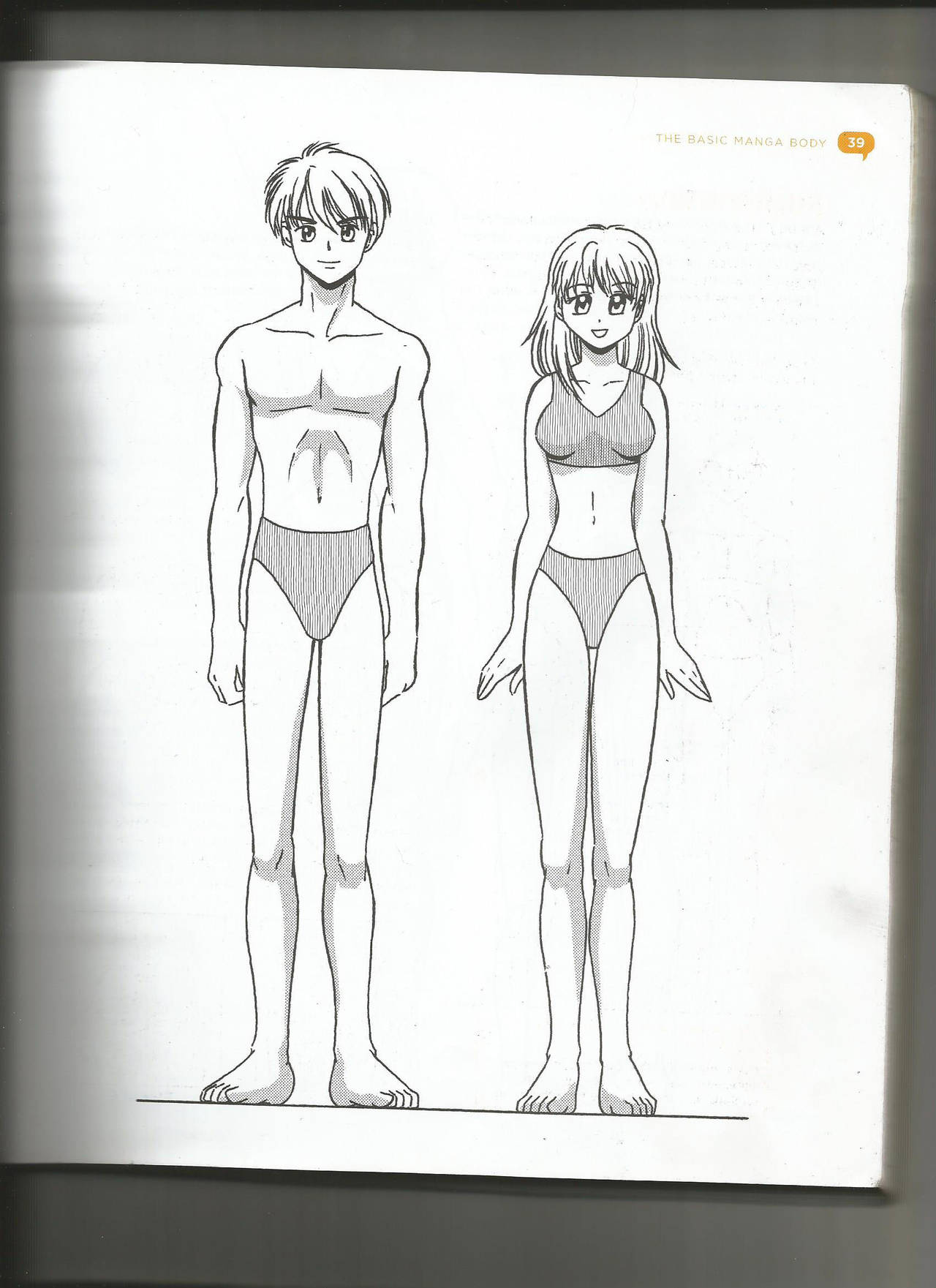 How to draw a boy and girl body front view by crimson exorcist