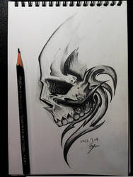 Skull copy painting by Eason41