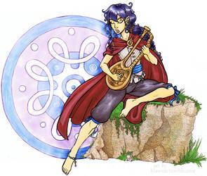 Jaden and his lute by klawzie
