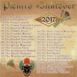 Piemro #Inktober List by klawzie