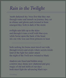 Rain in the Twilight by Liefesa