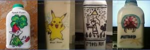 Nintendo Milk Art by Liefesa