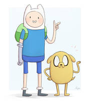 Finn And Jake by apanda54