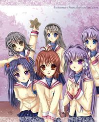 -- The Clannad girls -- by Kurama-chan