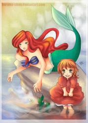 -- AT: Ariel and Ponyo -- by Kurama-chan