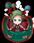-- Gumi: Poker Face chibi -- by Kurama-chan