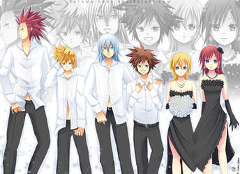 -- Kingdom Hearts in suit -- by Kurama-chan